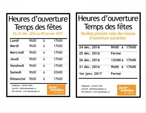 Heures d 39 ouverture temps des f tes 2016 2017 - Lapeyre heure d ouverture ...
